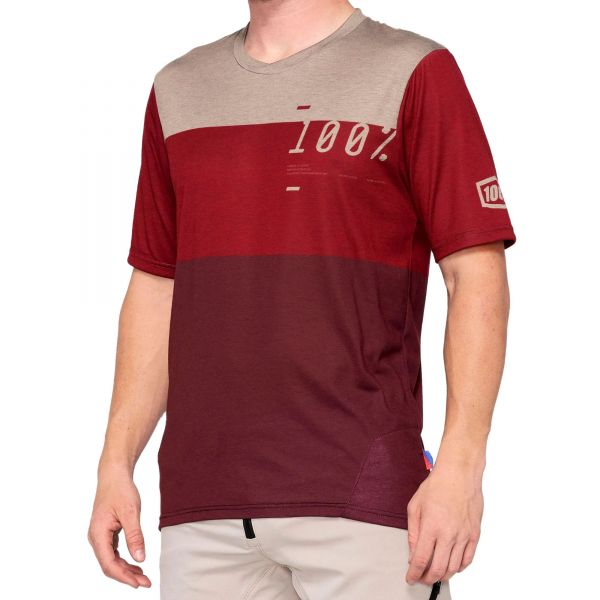 100% Airmatic Jersey - Brick/Dark Red