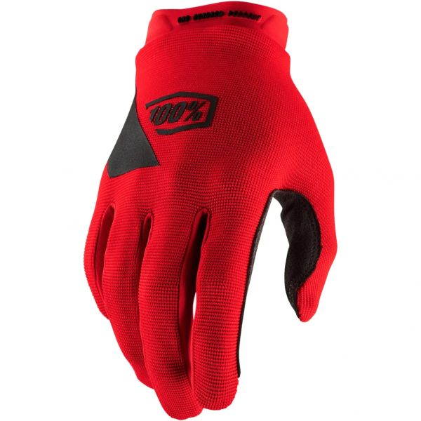 100% Ridecamp Protective Gloves - Red