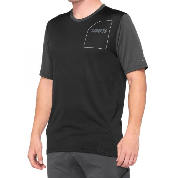 100% Ridecamp Jersey - Charcoal/Black
