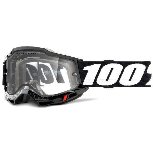 100% Accuri 2 Enduro MTB Goggles - Black (Clear Lens)