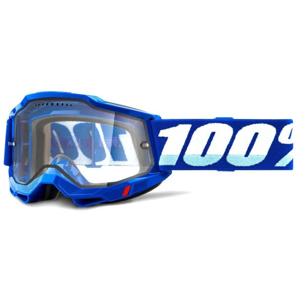 100% Accuri 2 Enduro MTB Goggles - Blue (Clear Lens)