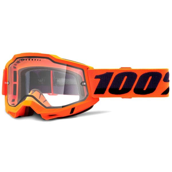 100% Accuri 2 Enduro MTB Goggles - Orange (Clear Lens)