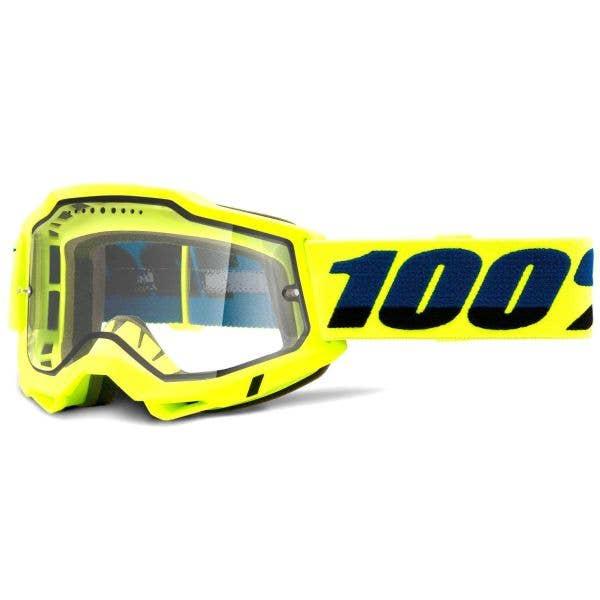 100% Accuri 2 Enduro MTB Goggles - Yellow (Clear Lens)