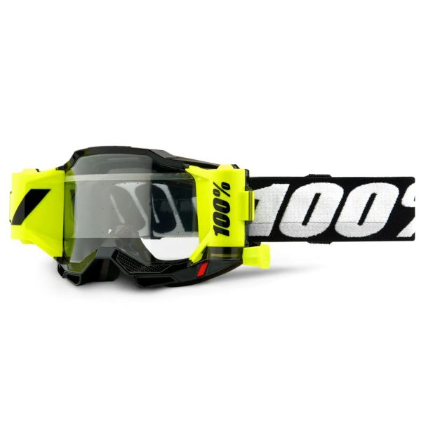 100% Accuri 2 Forecast MTB/MX Goggles - Black (Clear Lens)
