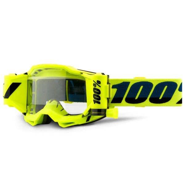 100% Accuri 2 Forecast MTB/MX Goggles - Yellow (Clear Lens)