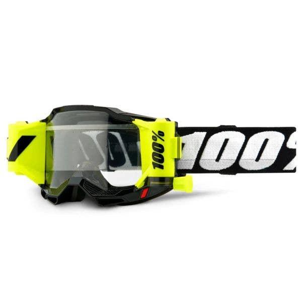 100% Accuri 2 Forecast Youth MTB/MX Goggles - Black (Clear Lens)