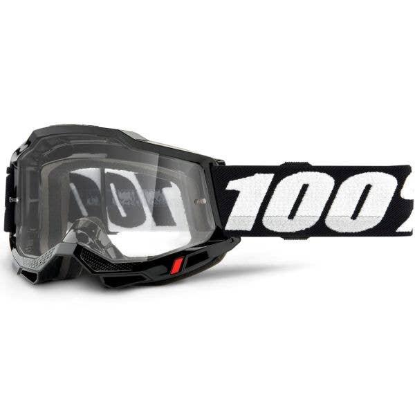 100% Accuri 2 MTB/MX Goggles - Black (Clear Lens)