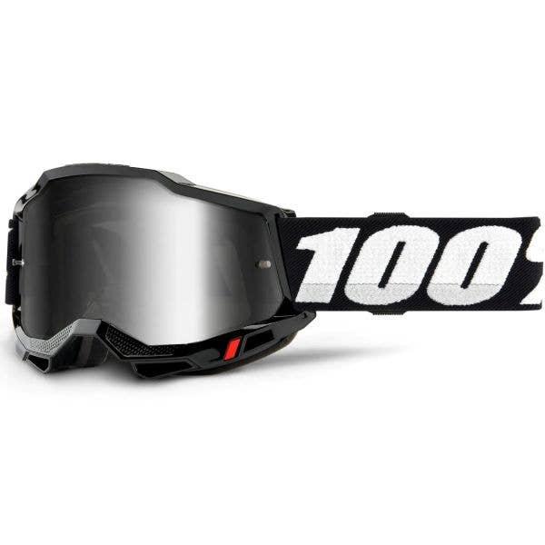 100% Accuri 2 MTB/MX Goggles - Black (Mirror Silver Lens)
