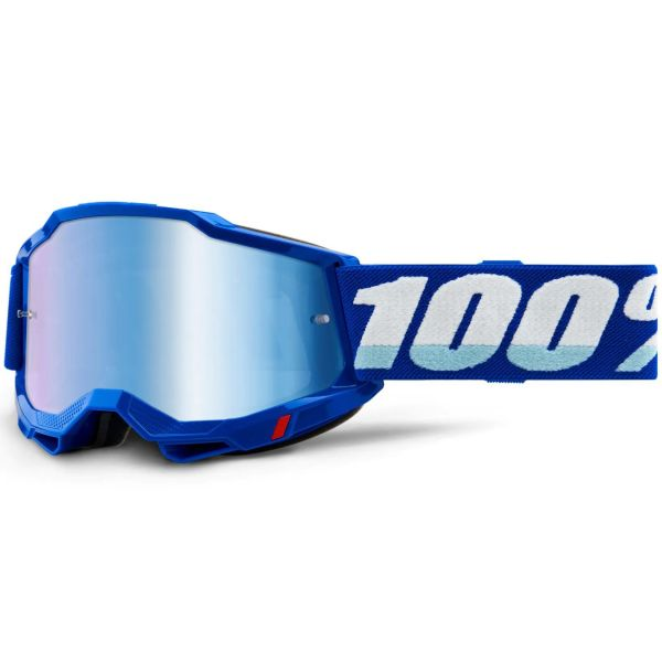 100% Accuri 2 MTB/MX Goggles - Blue (Mirror Blue Lens)
