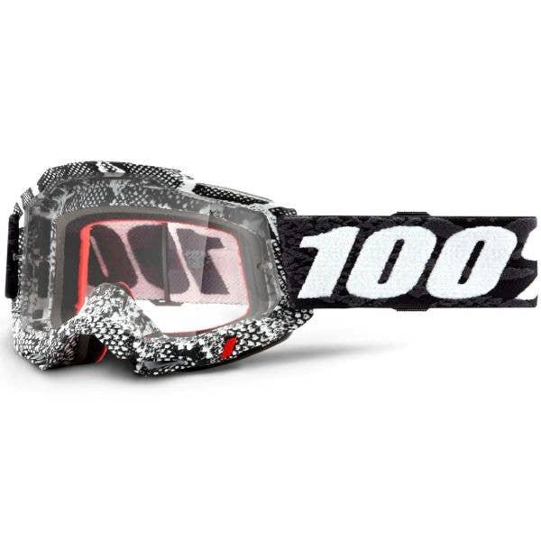 100% Accuri 2 MTB/MX Goggles - Cobra (Clear Lens)