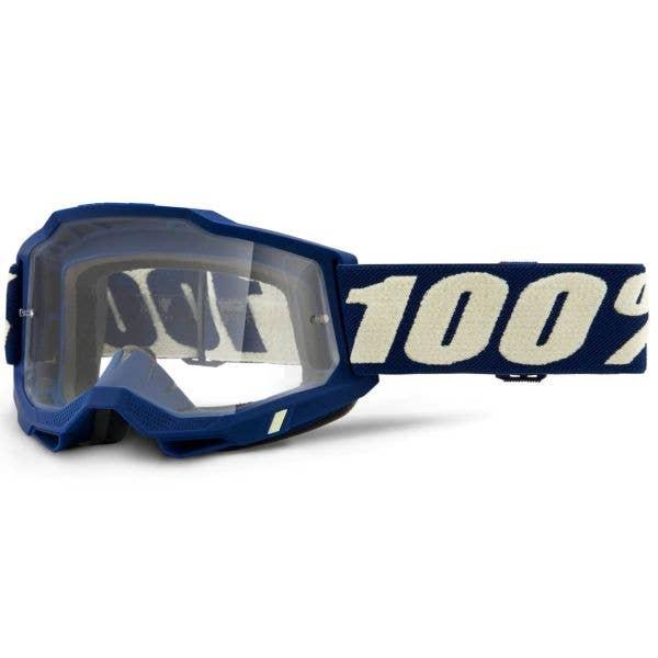 100% Accuri 2 MTB/MX Goggles - Deepmarine (Clear Lens)