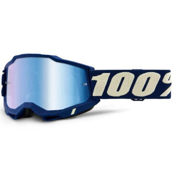 100% Accuri 2 MTB/MX Goggles - Deepmarine (Mirror Blue Lens)