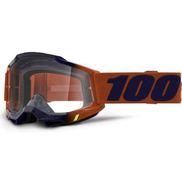 100% Accuri 2 MTB/MX Goggles - Kearny (Mirror Red Lens)