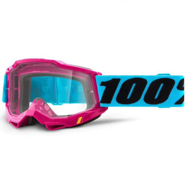 100% Accuri 2 MTB/MX Goggles - Lefleur (Clear Lens)