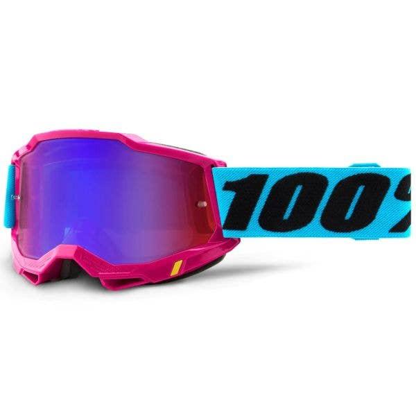100% Accuri 2 MTB/MX Goggles - Lefleur (Mirror Red/Blue Lens)