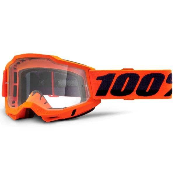 100% Accuri 2 MTB/MX Goggles - Orange (Clear Lens)