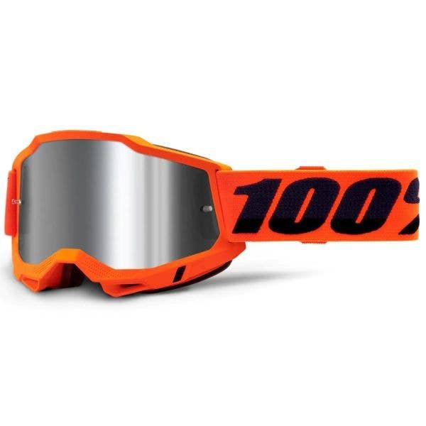 100% Accuri 2 MTB/MX Goggles - Orange (Mirror Silver Lens)