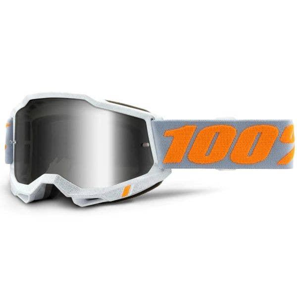 100% Accuri 2 MTB/MX Goggles - Speedco (Mirror Silver Lens)