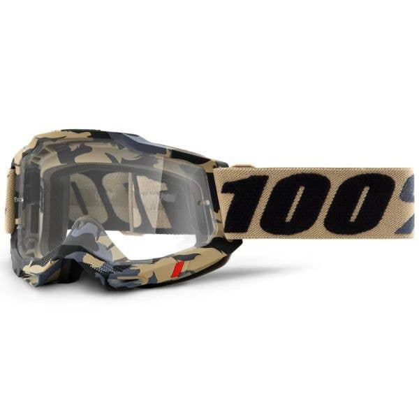 100% Accuri 2 MTB/MX Goggles - Tarmac (Clear Lens)