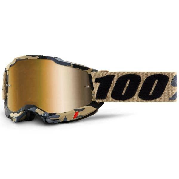100% Accuri 2 MTB/MX Goggles - Tarmac (True Gold Lens)