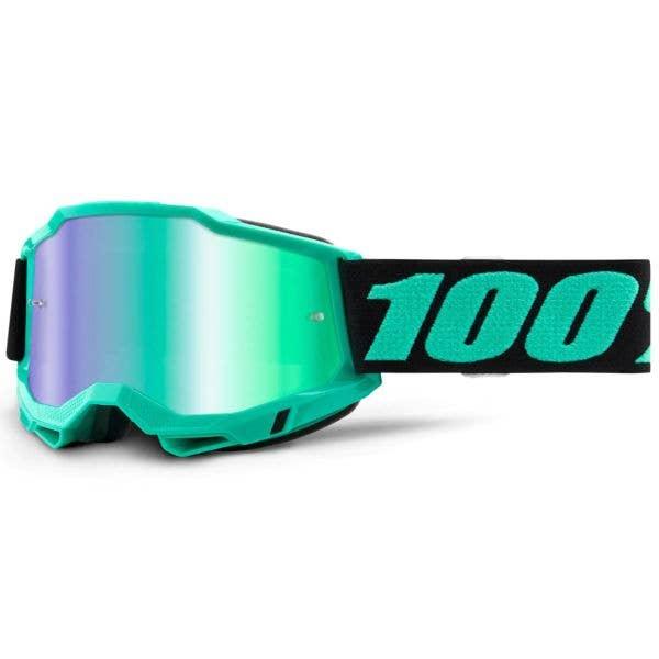 100% Accuri 2 MTB/MX Goggles - Tokyo (Mirror Green Lens)