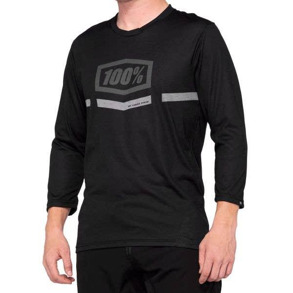 100% Airmatic 3/4 Sleeve Jersey - Black