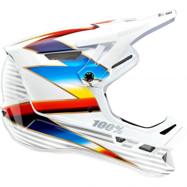 100% Aircraft Composite Full Face Downhill/BMX Helmet - Knox/White