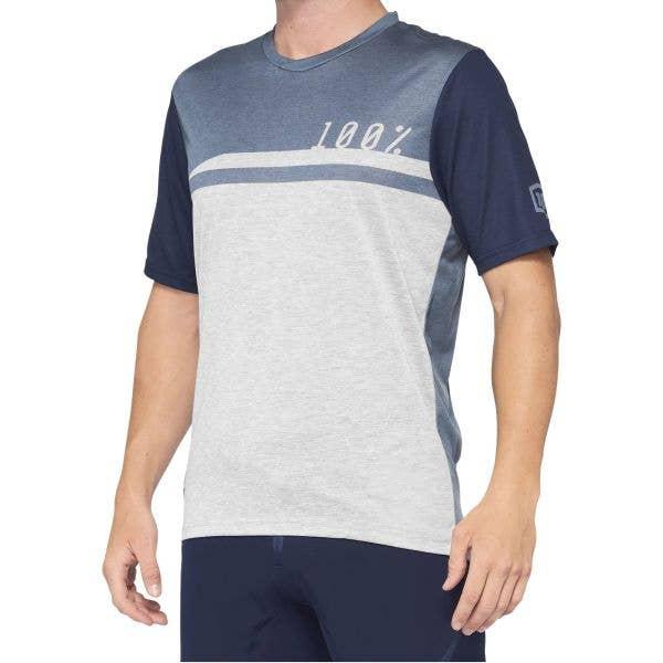 100% Airmatic Short Sleeve Jersey - Steel Blue Grey