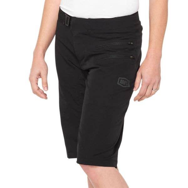 100% Airmatic Womens Shorts - Black