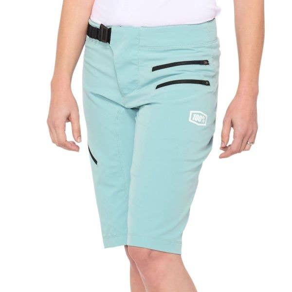 100% Airmatic Womens Shorts - Seafoam