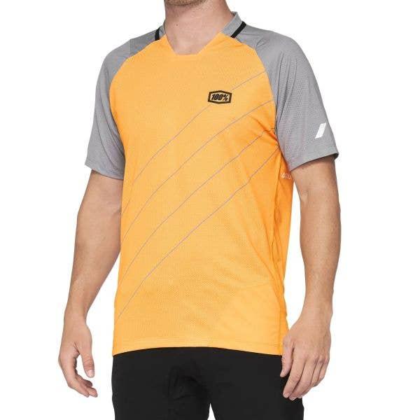 100% Celium Jersey - Orange/Grey