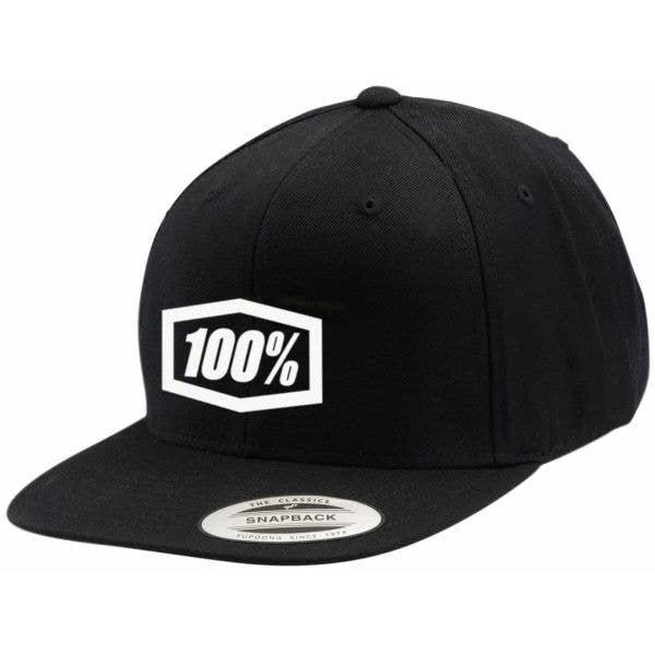 100% Essential Snapback Cap - Black