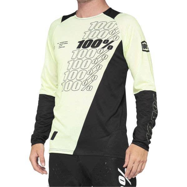 100% R-Core Long Sleeve Jersey - Yellow/Black