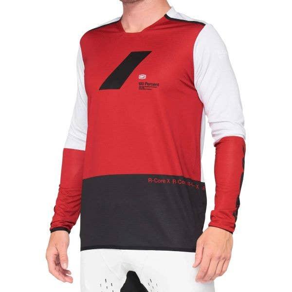 100% R-Core X Long Sleeve Jersey - Cherry/Black