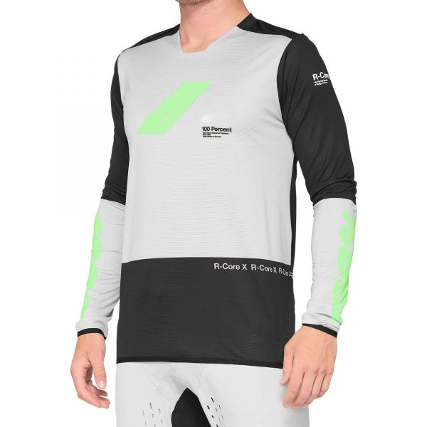 100% R-Core X Long Sleeve Jersey - Vapor/Black