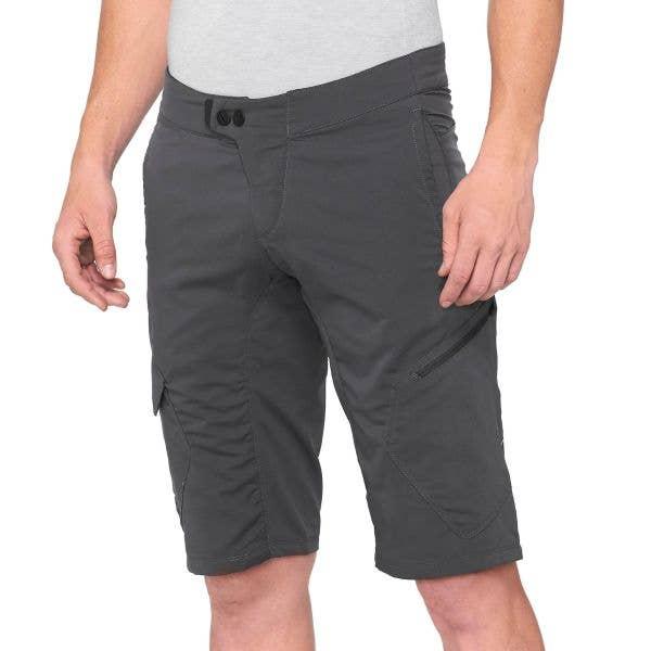 100% Ridecamp Shorts - Charcoal