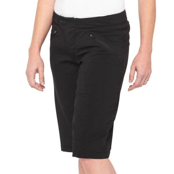 100% Ridecamp Womens Shorts - Black