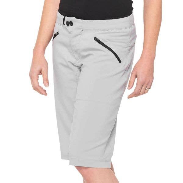 100% Ridecamp Womens Shorts - Grey
