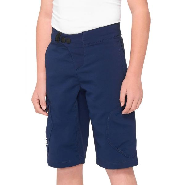 100% Ridecamp Youth Shorts - Navy