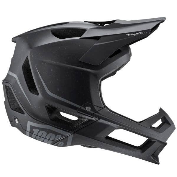 100% Trajecta w/Fidlock Full Face Downhill/BMX Helmet - Black