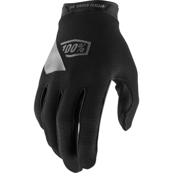 100% Ridecamp Protective Gloves - Black