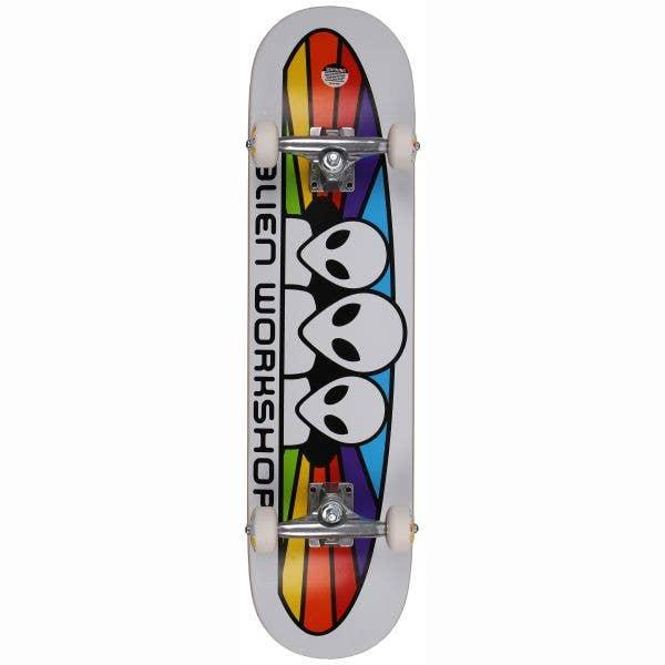 Alien Workshop Spectrum Complete Skateboard - White 7.75''