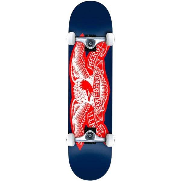 Anti Hero Team Copier Eagle Complete Skateboard - Blue 7.75''