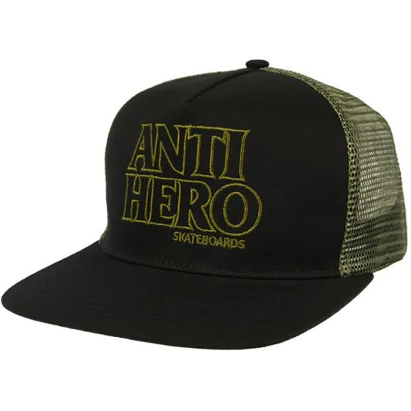 Anti Hero Black Hero Outline Snapback Cap - Black/Olive