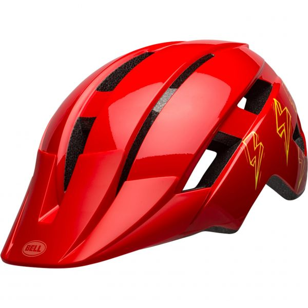 Bell Sidetrack II Youth Helmet - Red Bolts