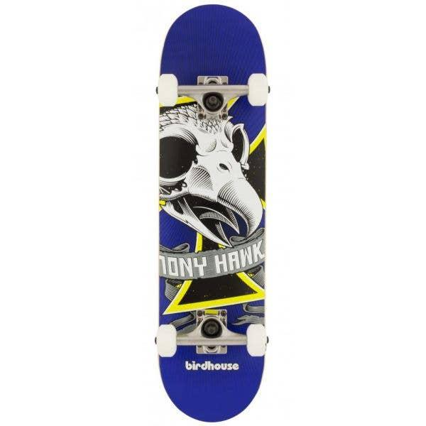 Birdhouse Stage 1 Oversized Skull Mini Complete Skateboard - 7.25''