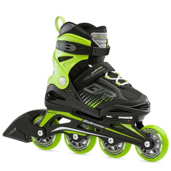 Bladerunner Phoenix Adjustable Inline Skates - Black/Green