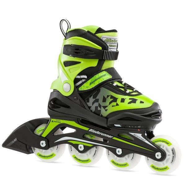 Bladerunner Phoenix Flash Adjustable Inline Skates - Black/Green