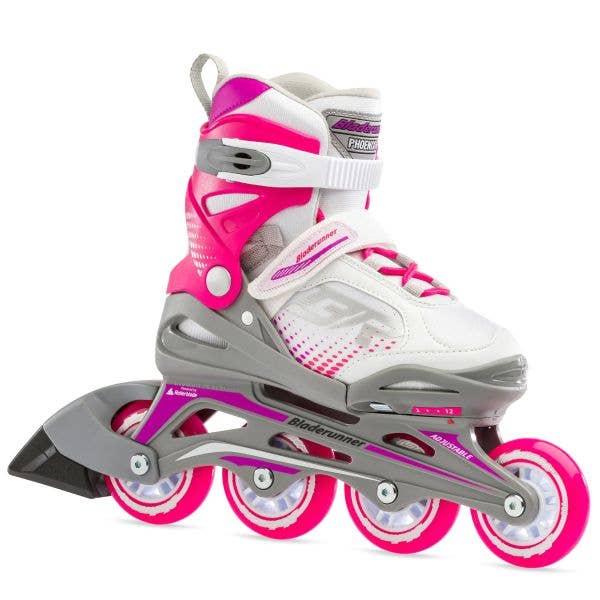 Bladerunner Phoenix G Adjustable Inline Skates - White/Fuchsia