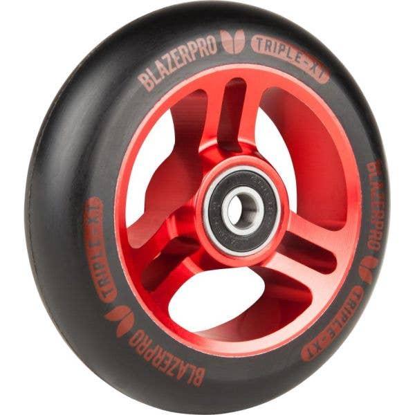 Blazer Pro Triple XT 100mm Scooter Wheel - Black/Red